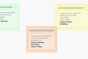 div css position 属性absolute relative fixed static定位样式表_DIV CSS代码